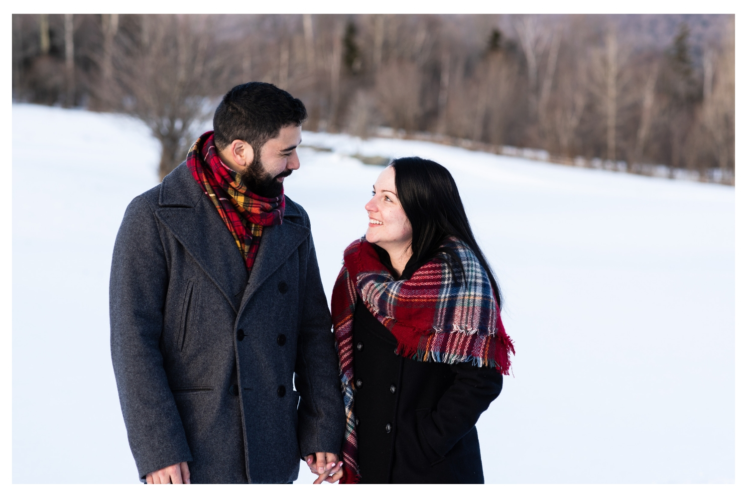 vermont winter engagement