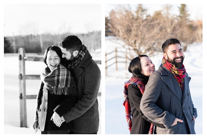 vermont outdoor winter engagement