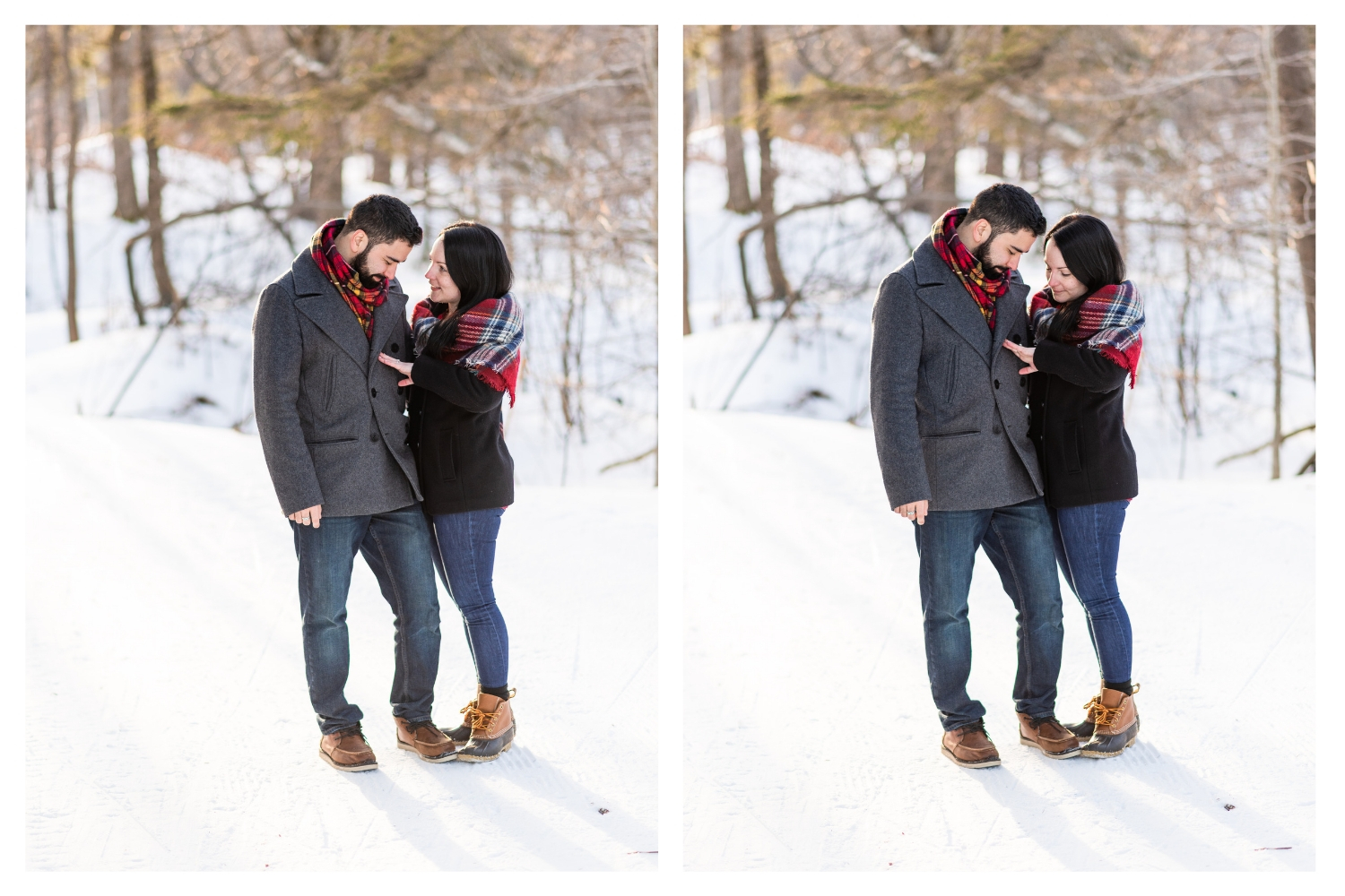 newly engaged winter portraits
