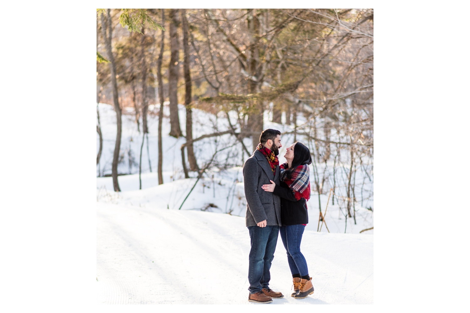 vermont winter couples portrait