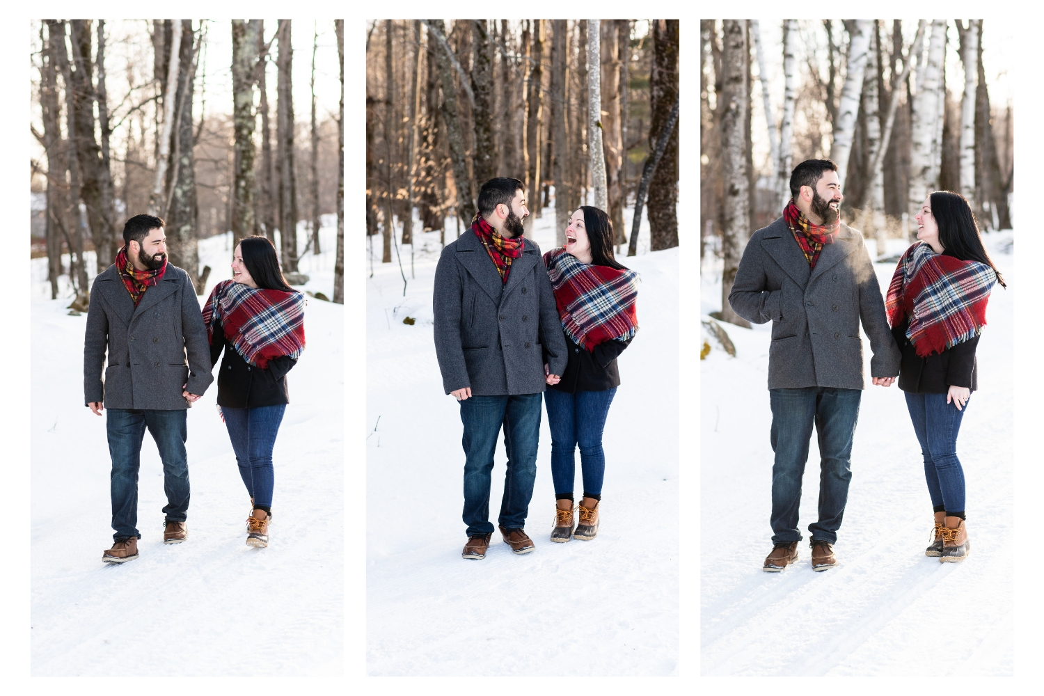 vermont winter couples portraits