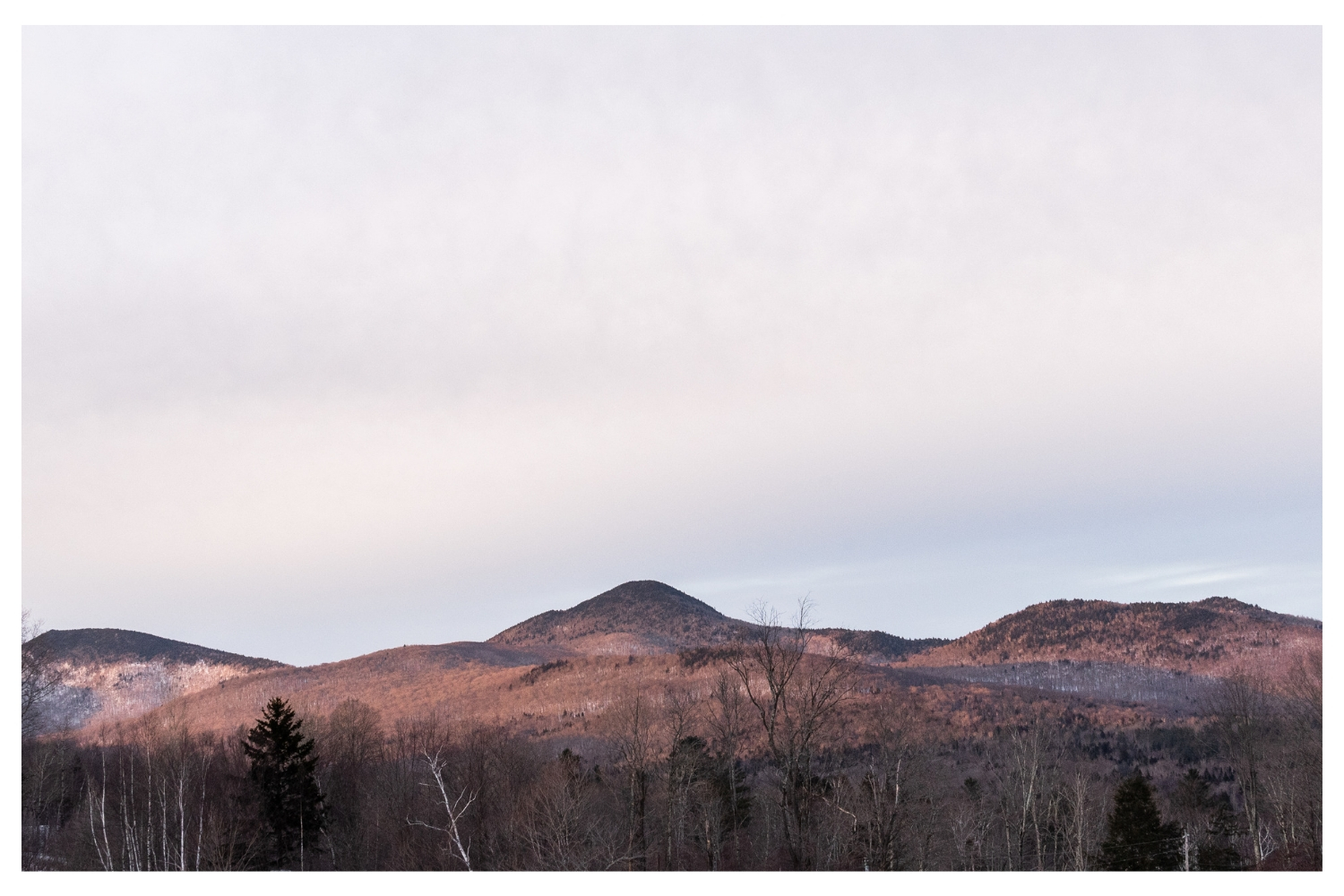 chittenden vermont mountaintop at sunset