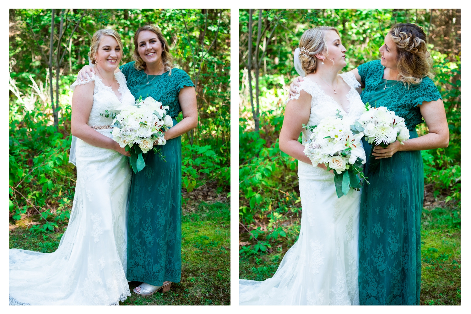 bride with sister matron of honor