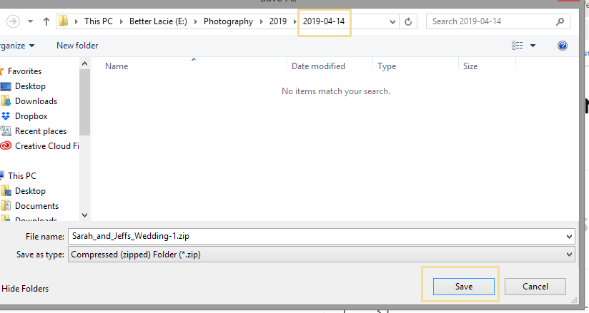 Create a new folder to save your images in that's in the Photography folder you setup before.