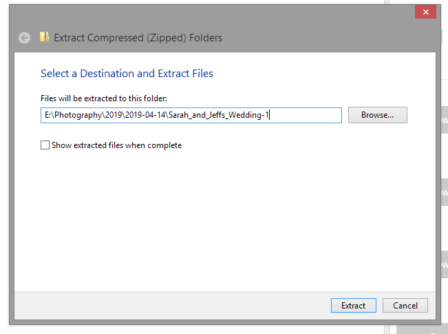 Extract all the files you've downloaded and make sure they stay in your new folder