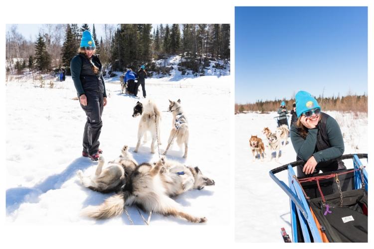 dogsledding in ely minnesota with adventurher travel