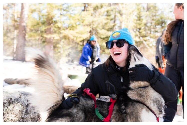 sled dog kisses
