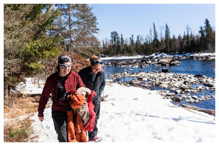 winter riverside walk in ely minnesota