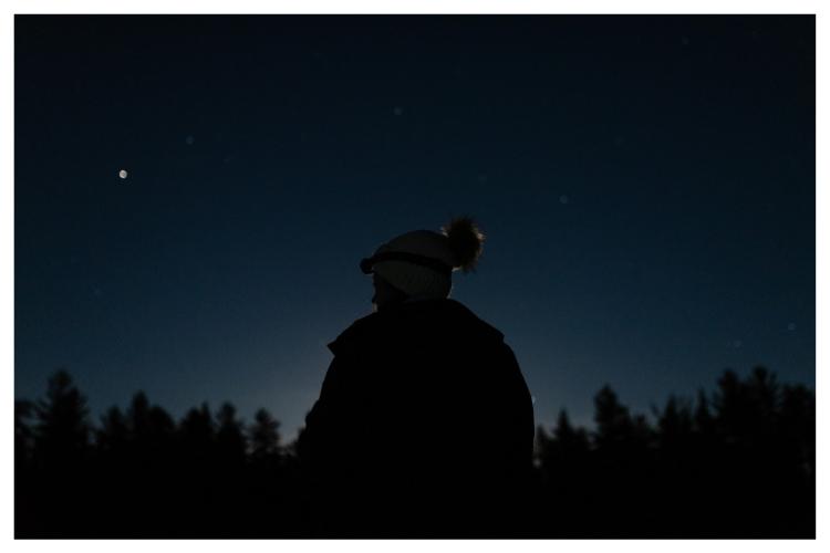adventurher travel late night hike