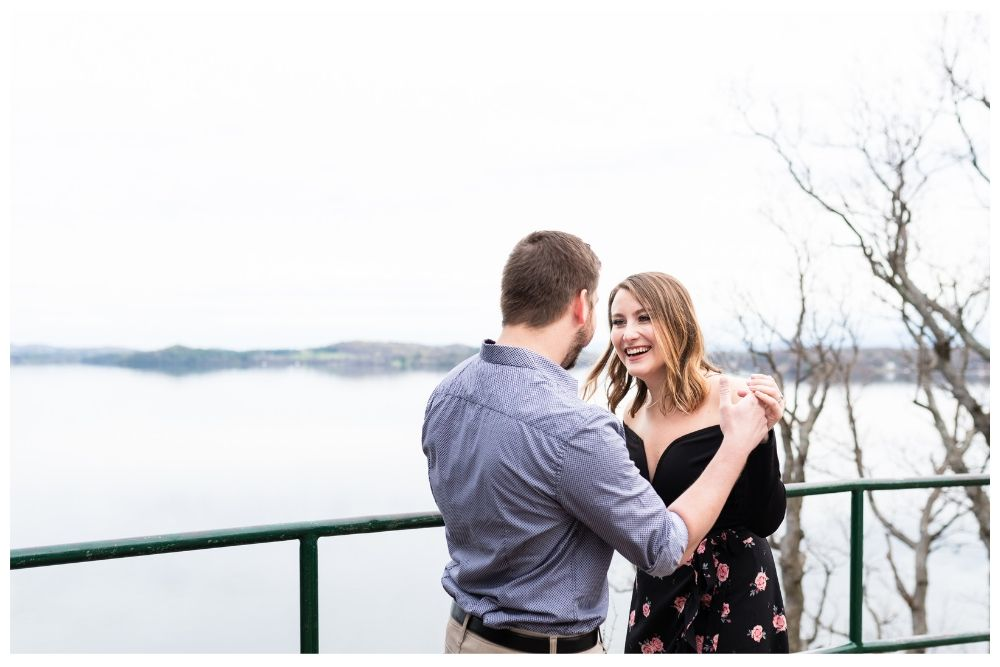 lake champlain engagement with the sweetest couple