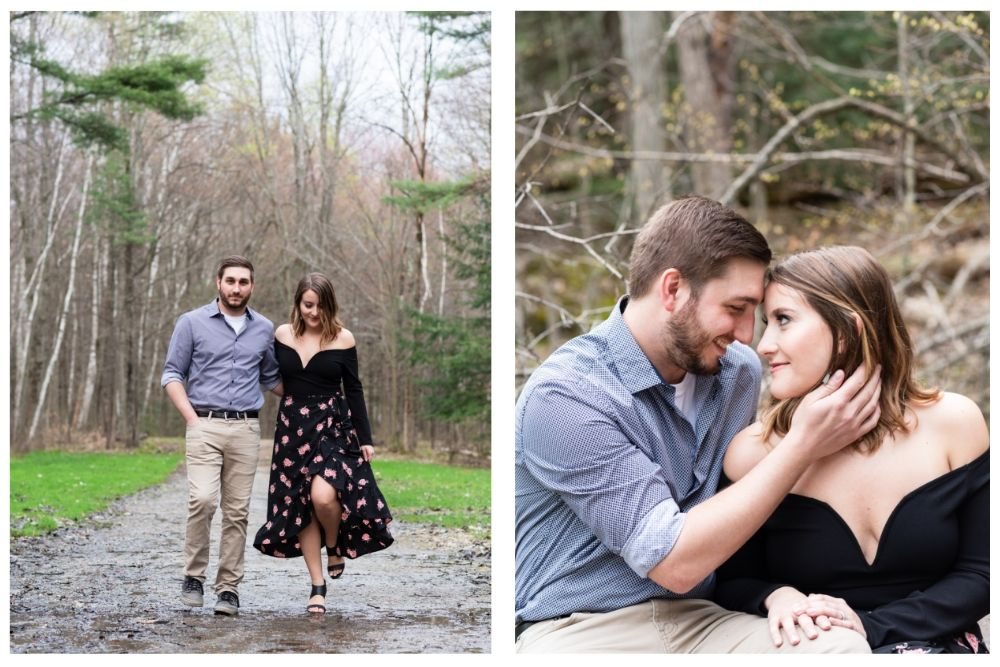 forest engagement portraits burlington vermont