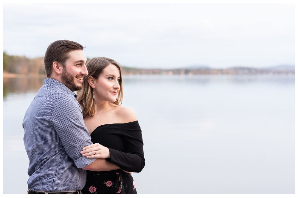 couples lakeside portraits vt