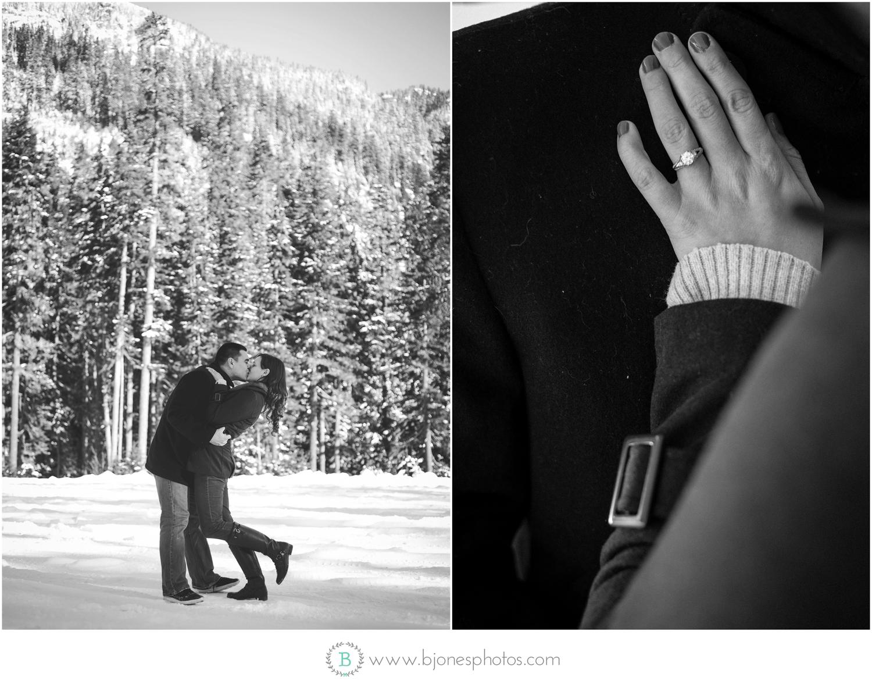 Snow enagement session| seattle Wedding Photographer | snohomish
