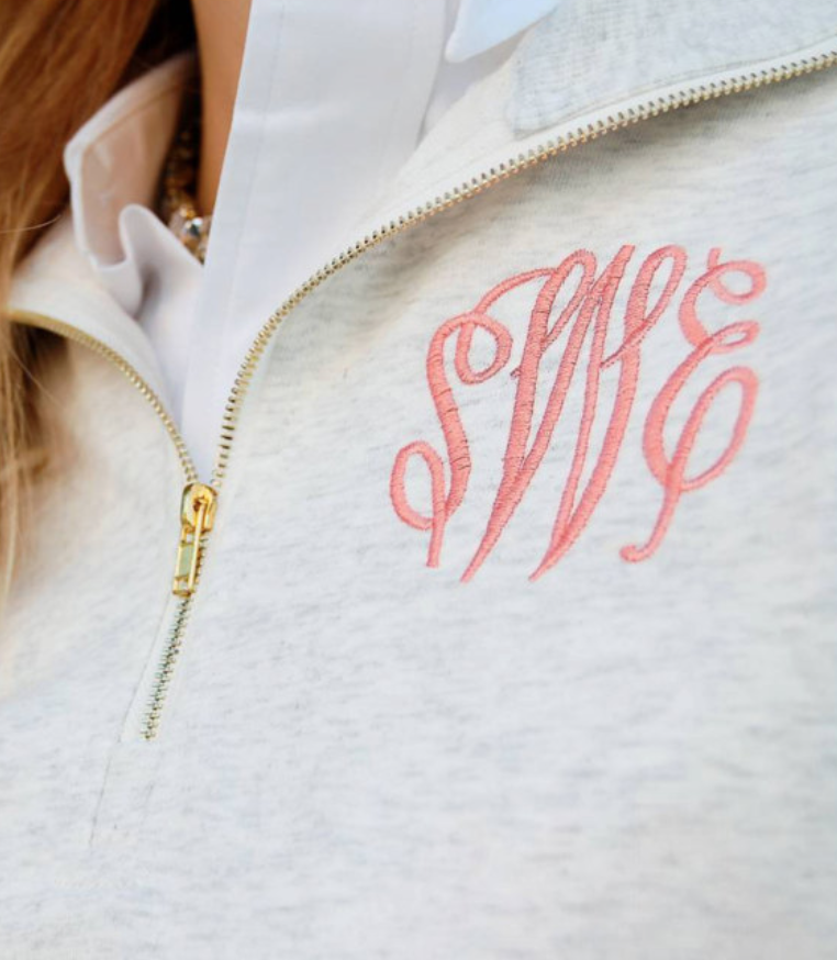 Monogrammed French Terry Pull Over