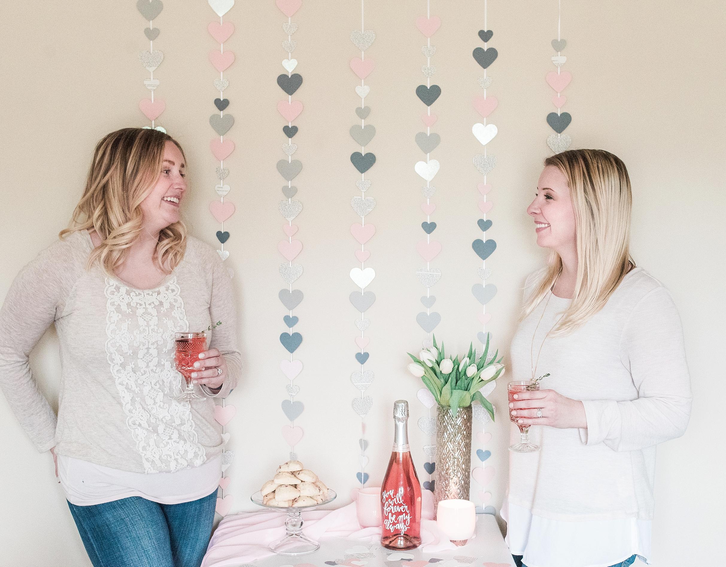 DIY Valentines Day Garland Tutorial & Themed Cocktails