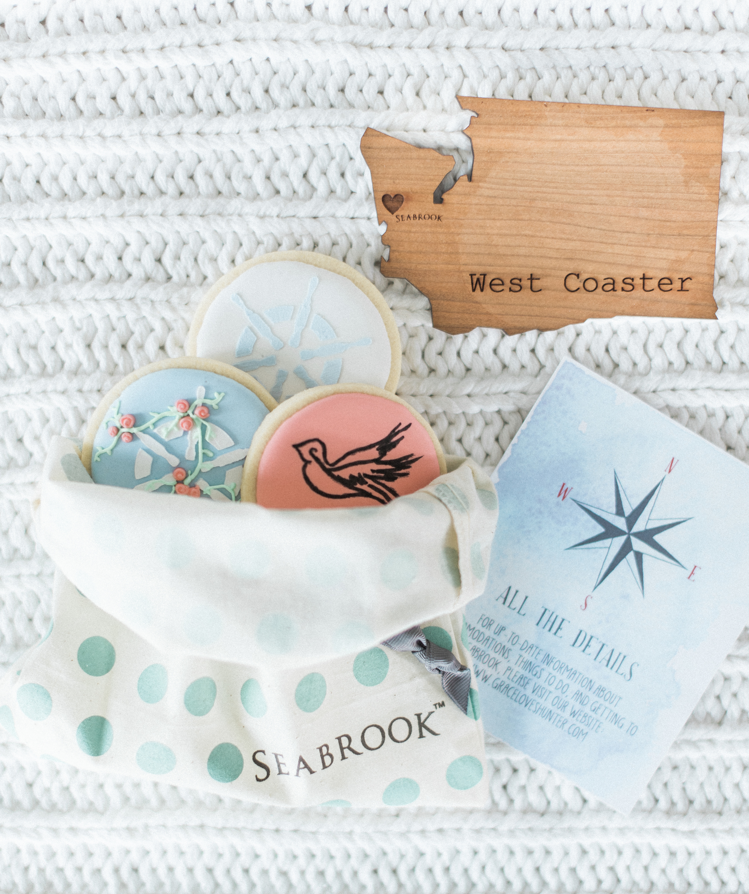 Destination Wedding Welcome Gift. Seabrook nautical fine art wed