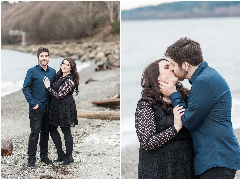 Carkeek Park, Engagement, Winter Engagment, Award Winning Photography, Beach, PNW Engagement, Forest