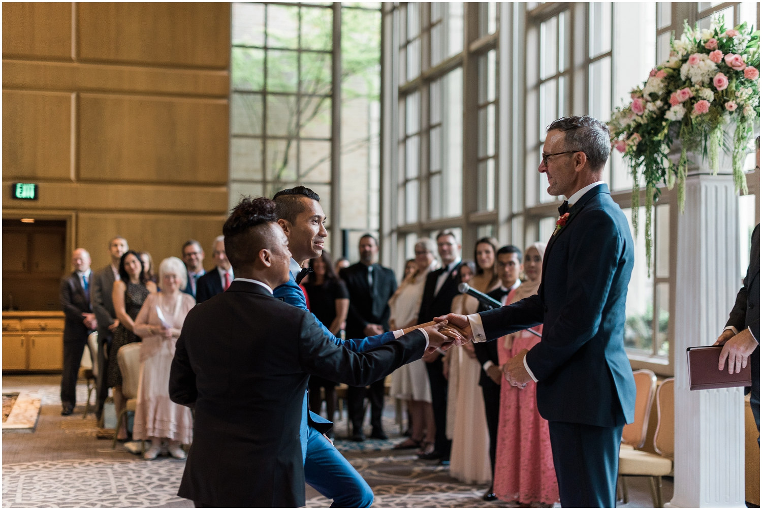 fairmont Hotel, Glamor, Luxury, Gay, LGBTQIA+, King County Wedding Photography, YSL, Ami, Louboutin, Men's fashion, designer, high end, on trend, classic