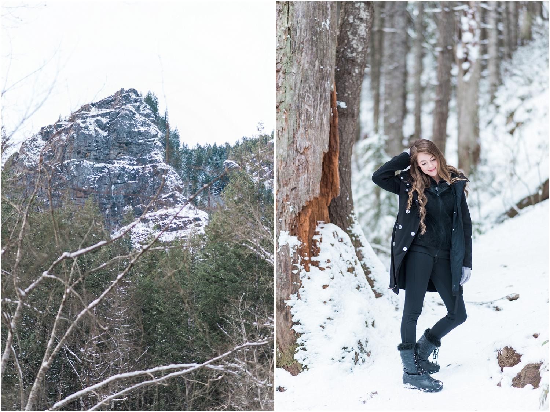 Seattle snohomish wedding photography rattlesnake ledge mountain engagement adventure snow