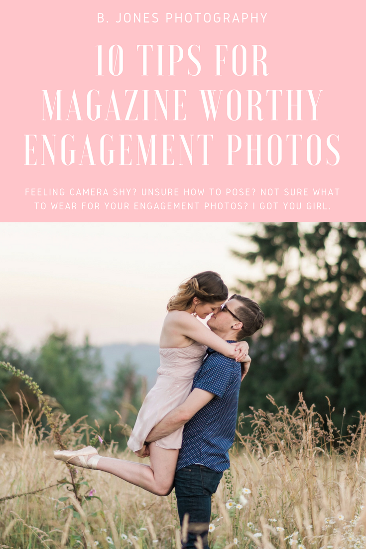 Magazine worthy engagement photos