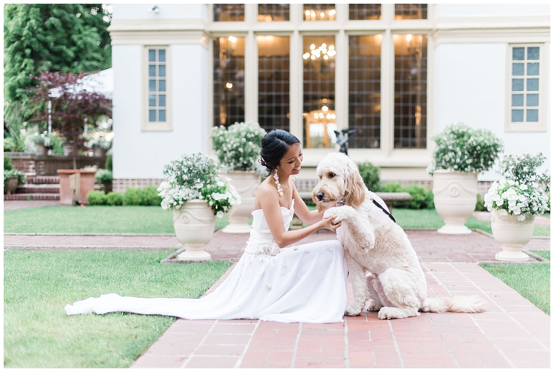 Lairmont Manor Wedding with dog -- Bellingham Wedding Photograph