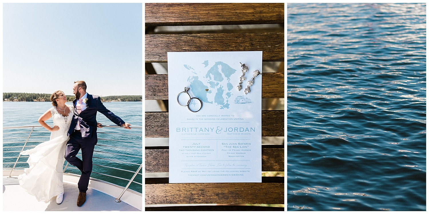 Brit & Jordan's Whale Watching Wedding on a boat out of Friday harbor SAN JUAN ISLAND