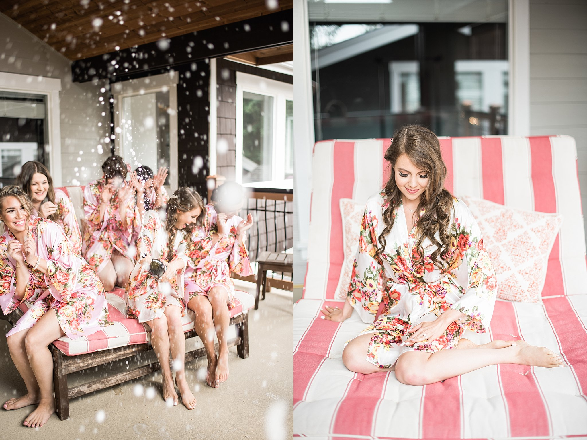 Candid Champagne Pop Photo at Trinity Tree Farm Wedding Photos.