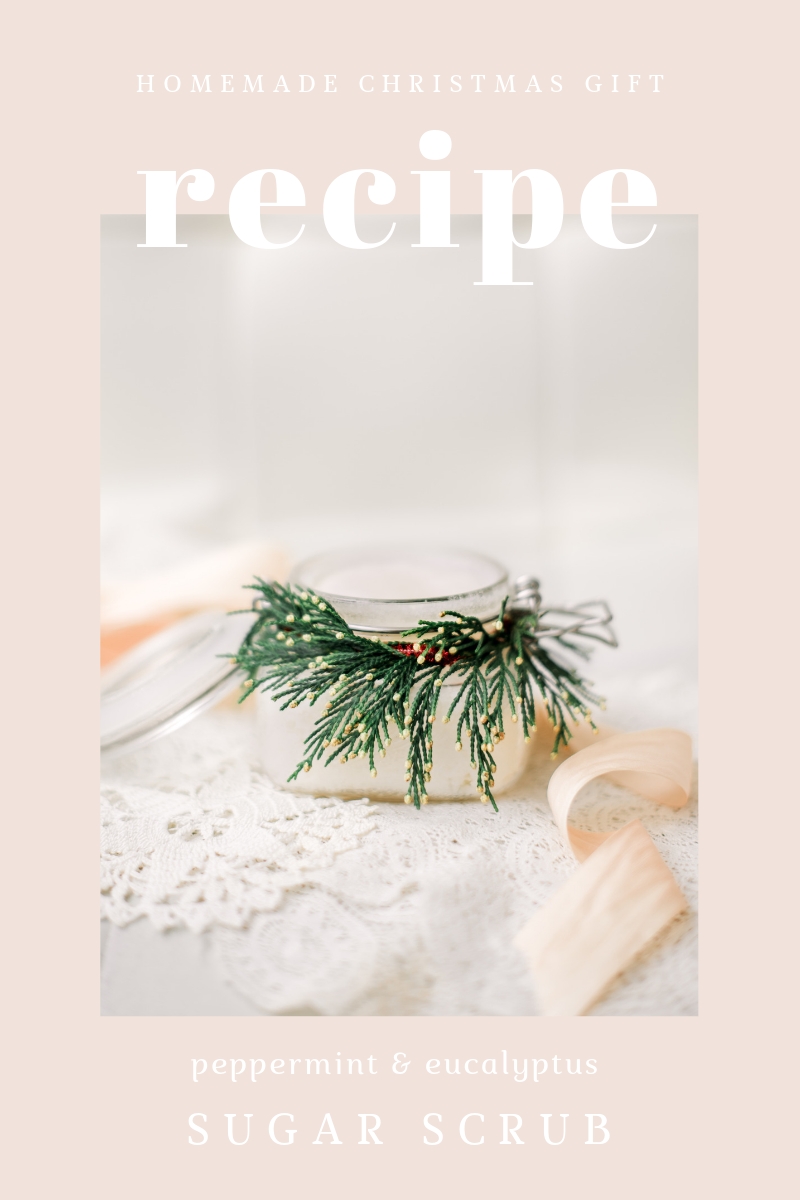 DIY christmas gift sugar scrub