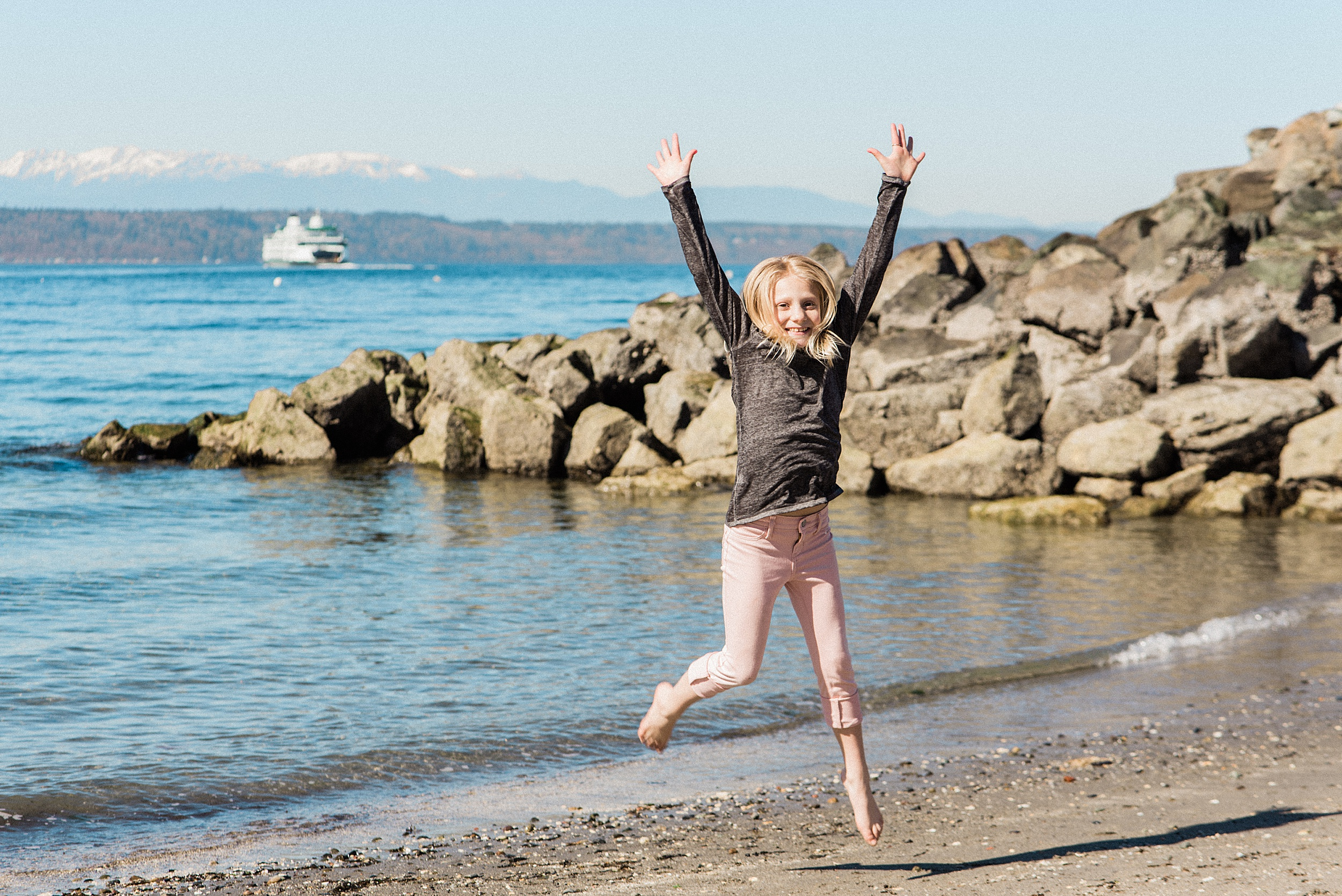 Edmonds beach ferry family photos