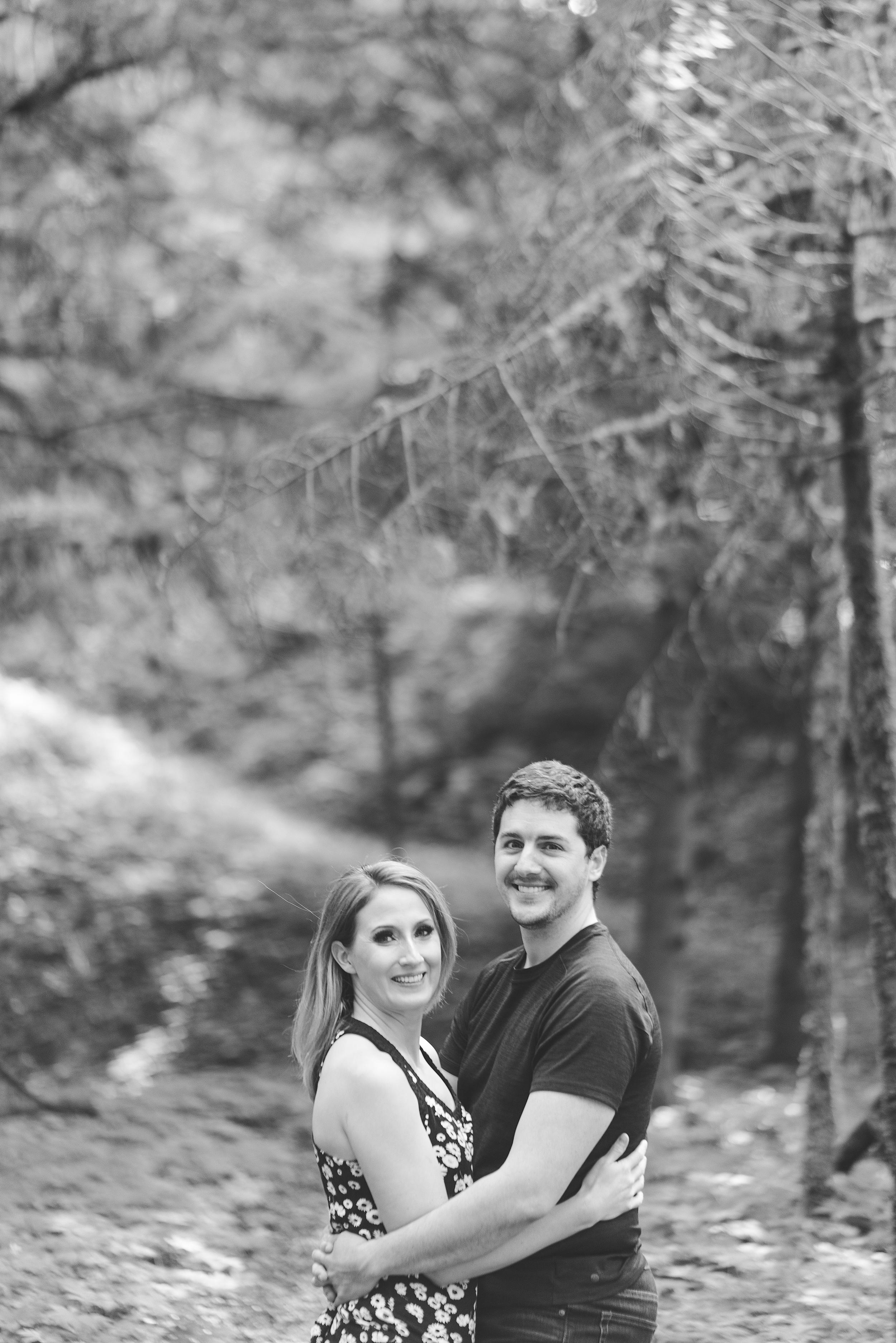 Snoqualmie Falls proposal engagement photos.