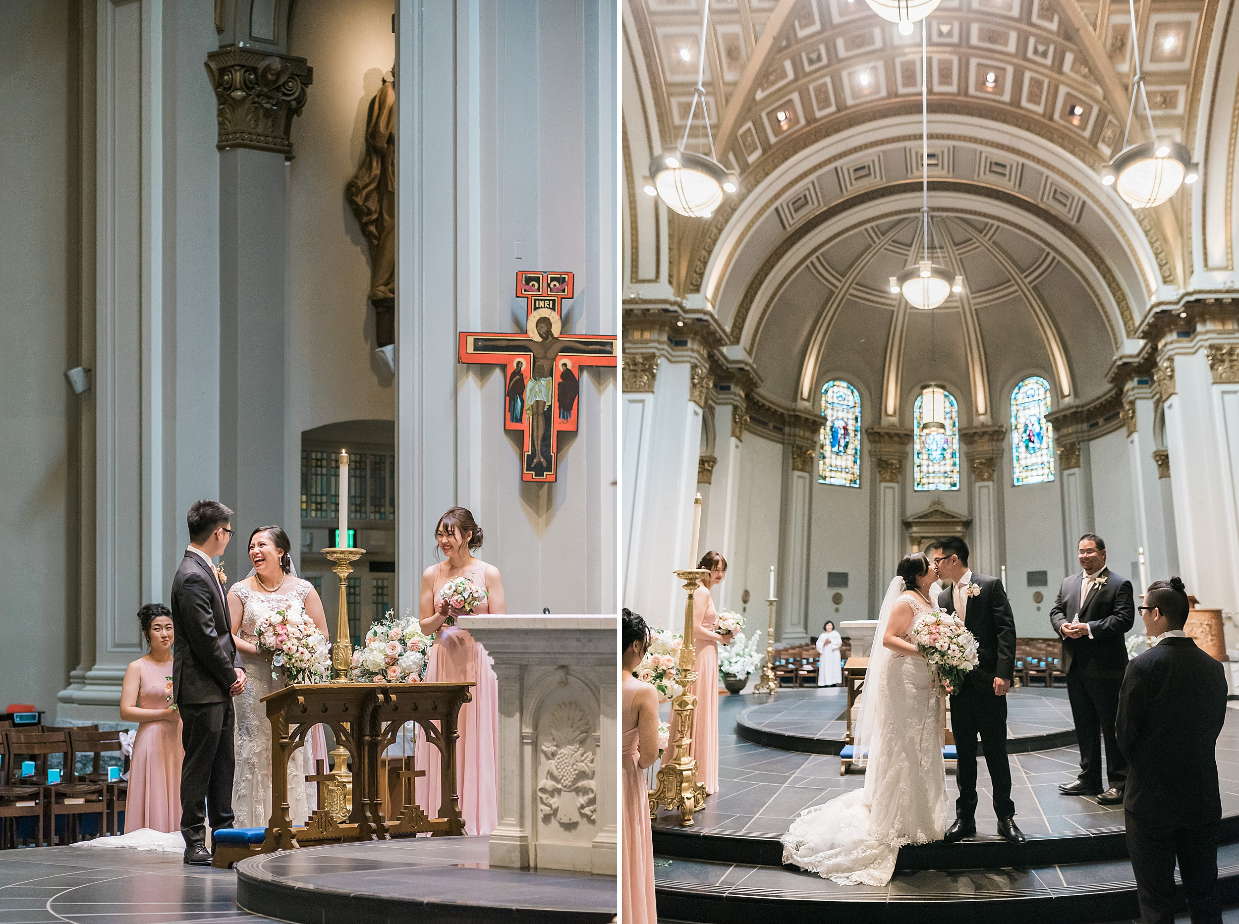 St. James Cathedral & Woodmark Hotel Waterfront Wedding. Seattle