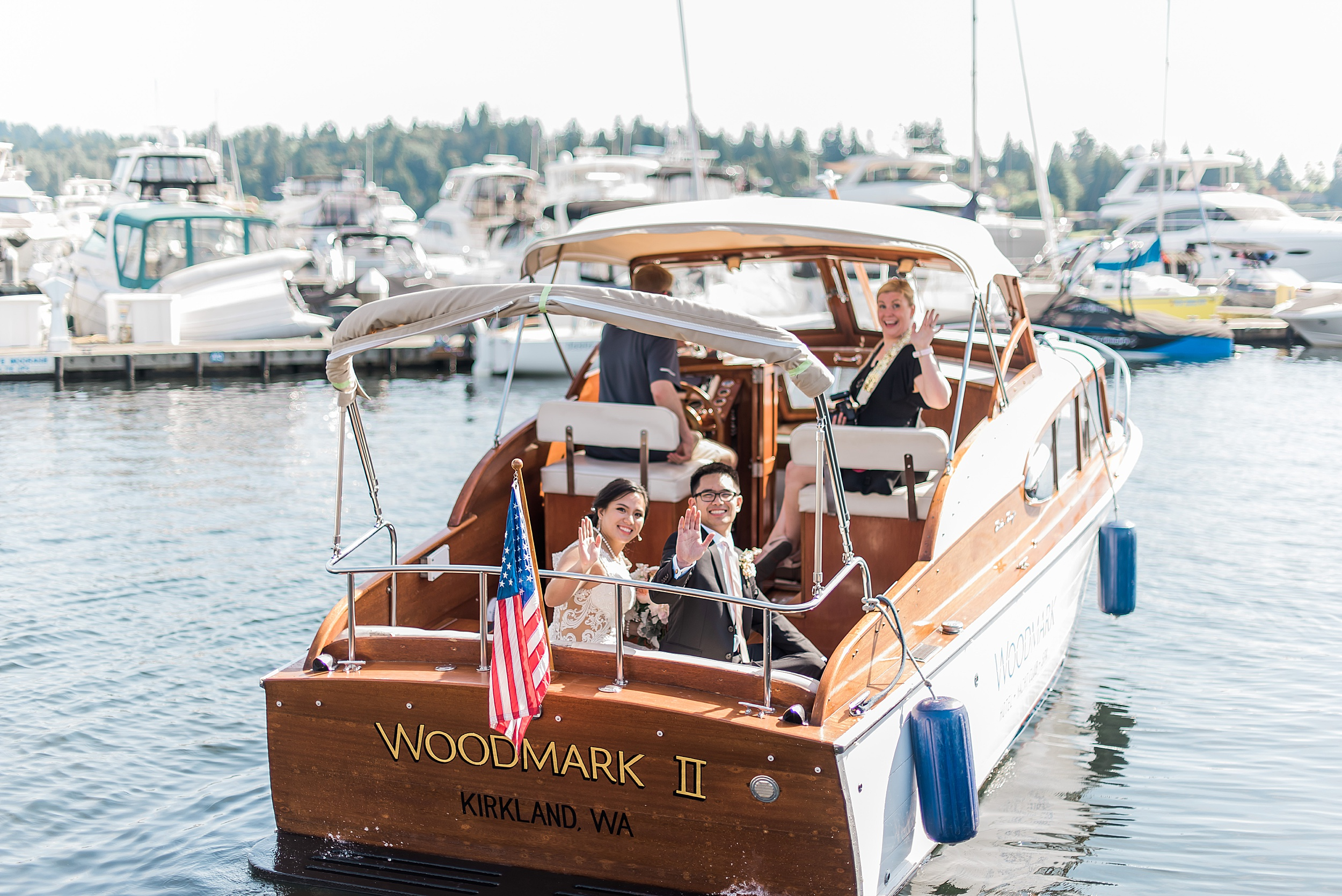 Woodmark Hotel Waterfront Wedding. Seattle Wedding Venues.