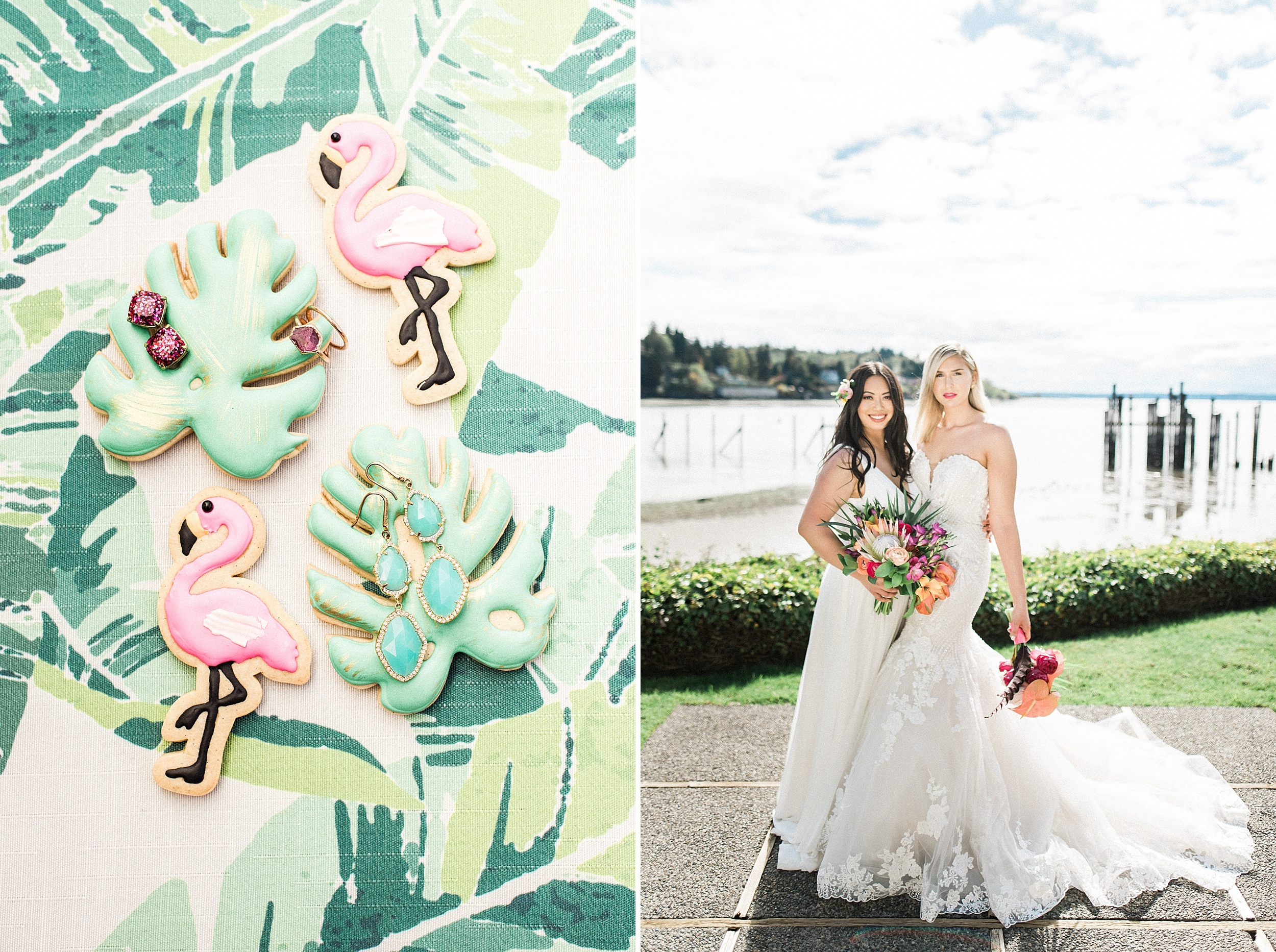 Lesbian Lilly Pulitzer Inspired PNW Wedding in Seattle