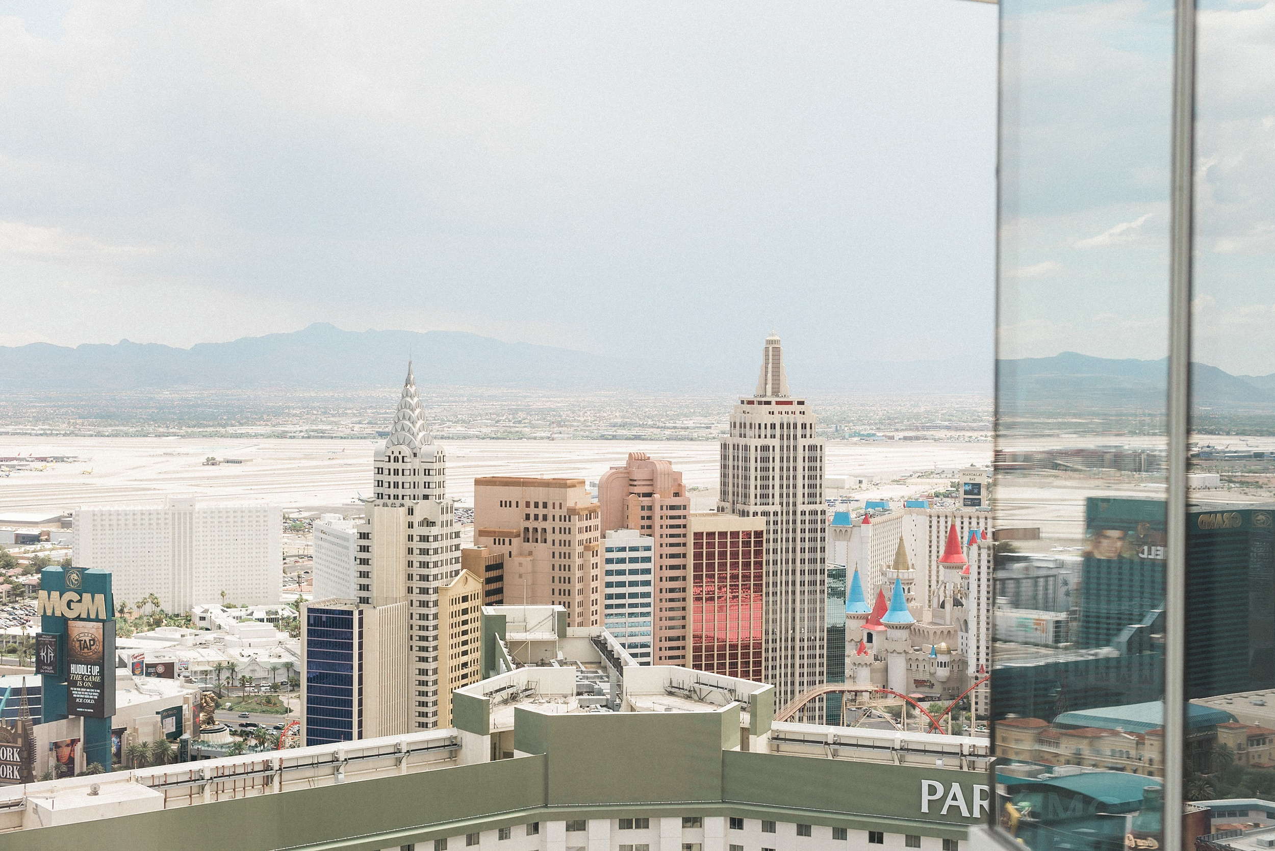 Aria Sky Suite Wedding view. Las Vegas strip Elopement Photograp