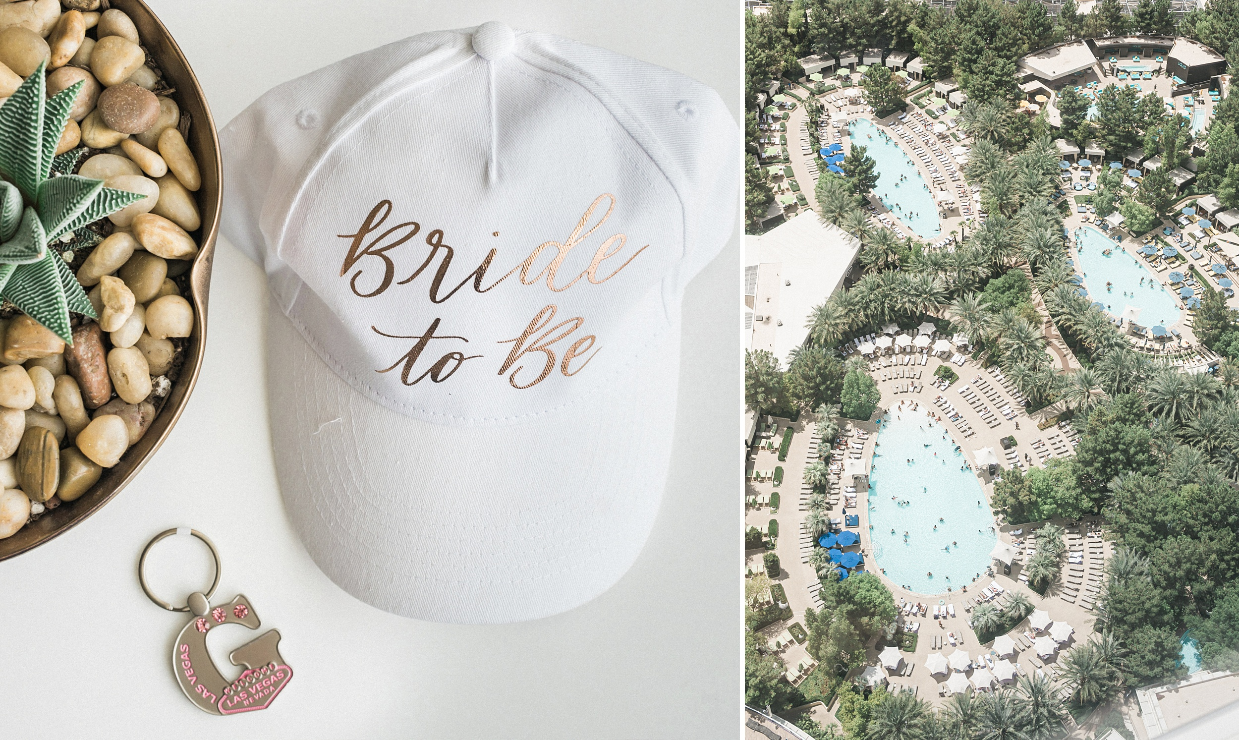 Bride to be Hat. Aria Sky Suite Wedding. Las Vegas strip Elopeme