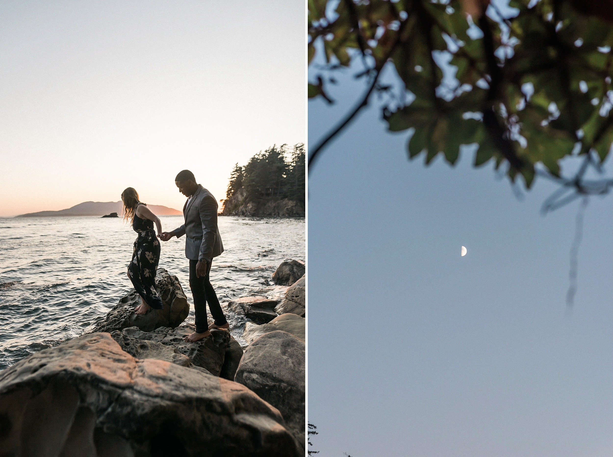 Larrabee Waterfront Bellingham Engagement Photos. Shelby and Joe