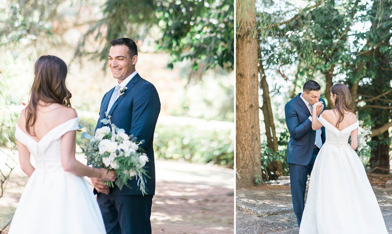 First look at villa Academy. Seattle church wedding by B. Jones