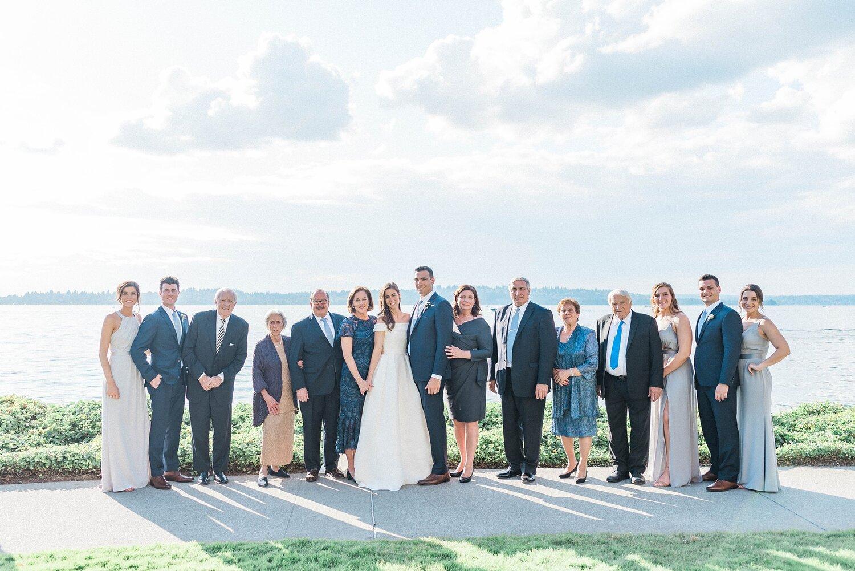 Kathleen  & Michael's Woodmark Hotel wedding photos in front of
