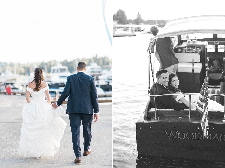 Kathleen  & Michael's Woodmark vintage boat photos on lake washi