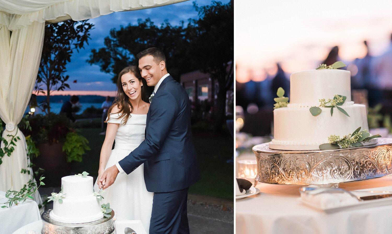 Kathleen  & Michael's Woodmark Hotel wedding reception. Seattle