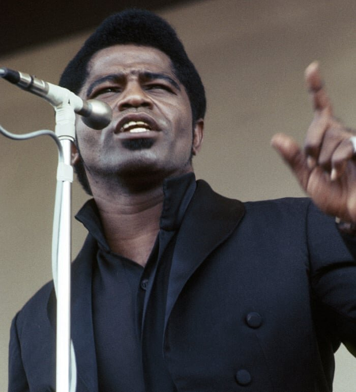 "james brown  [image from guardian]  album recommendation ""20 All-time Greatest hits'""  Doc: Mr. Dynamite: The rise of jame brown"