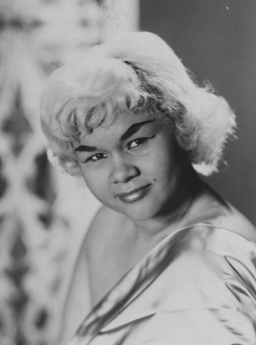 "etta james [image from rockhall]  album rec: ""at last!"""