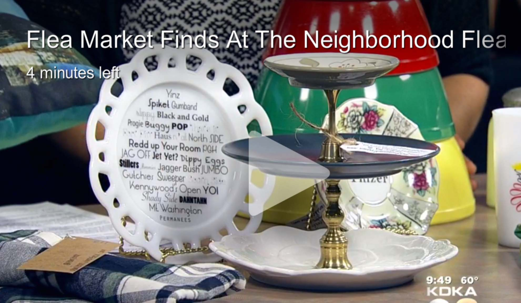 Pittsburgh Today Live : Aired 9/11/15 featured @ Minute Marker 2:05  http://pittsburgh.cbslocal.com/video/3292722-flea-market-finds-at-the-neighborhood-flea/