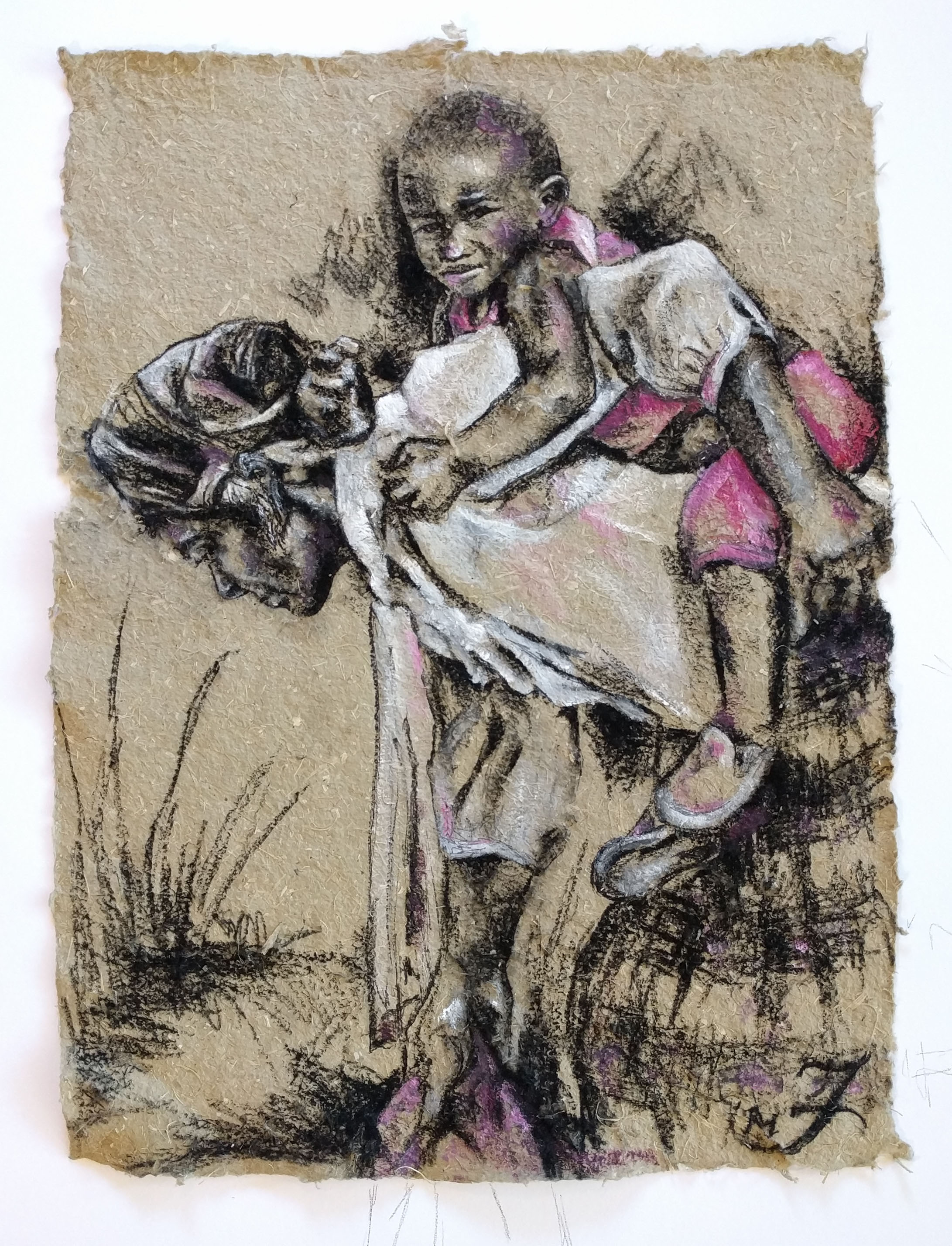 Girl Child In Magenta
