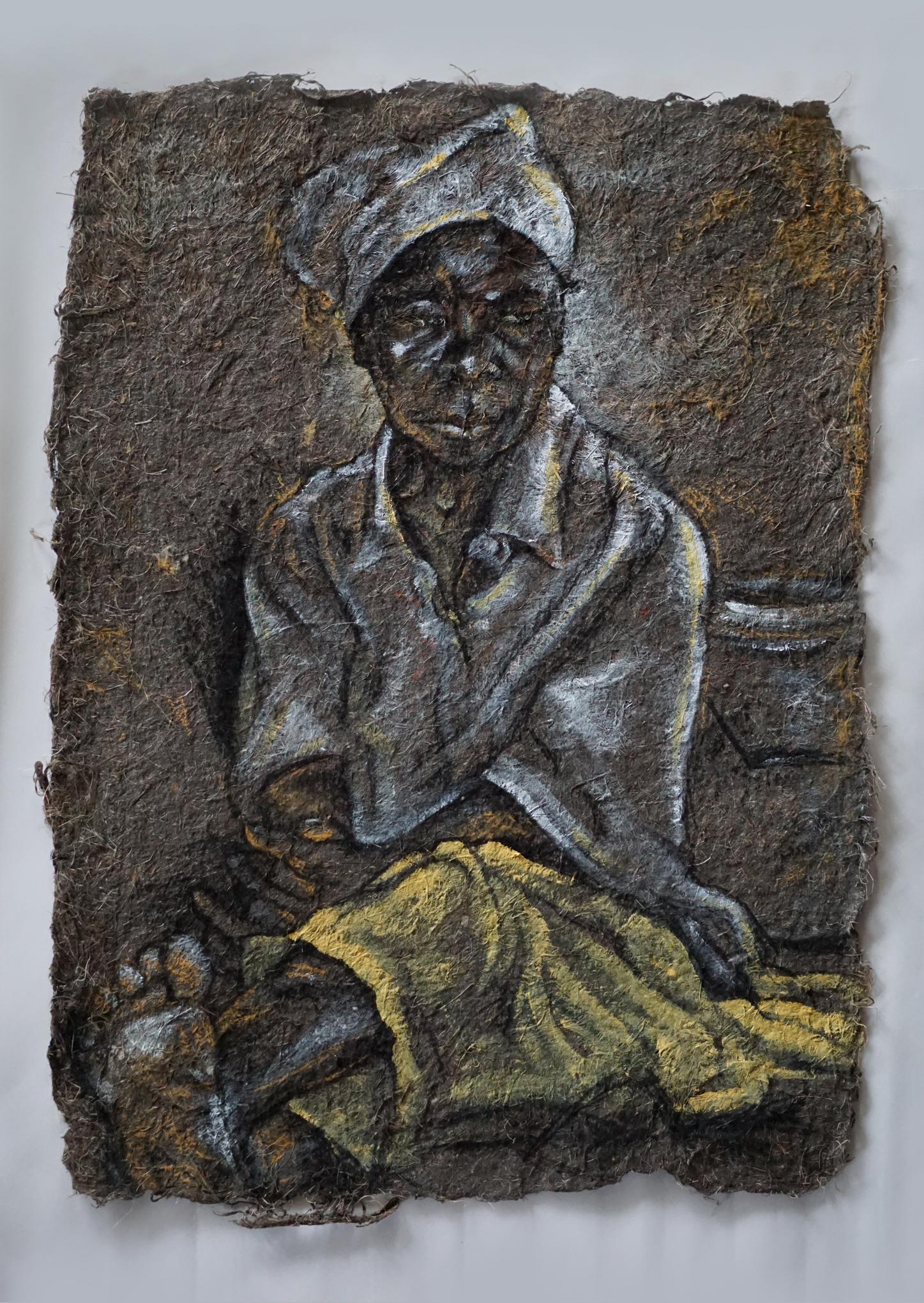Grandmother In Golden Skirt