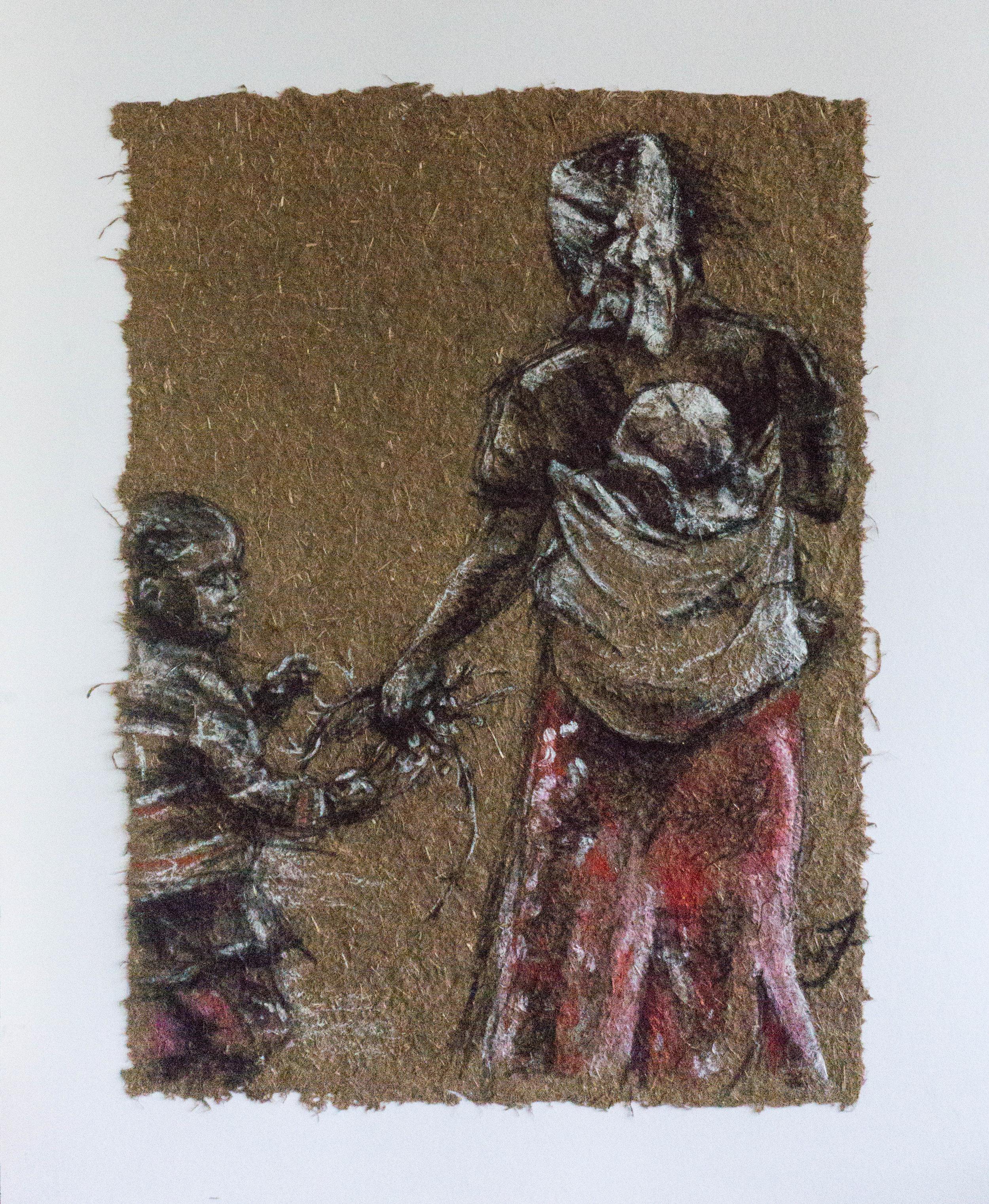 Mother In Scarlet Skirt