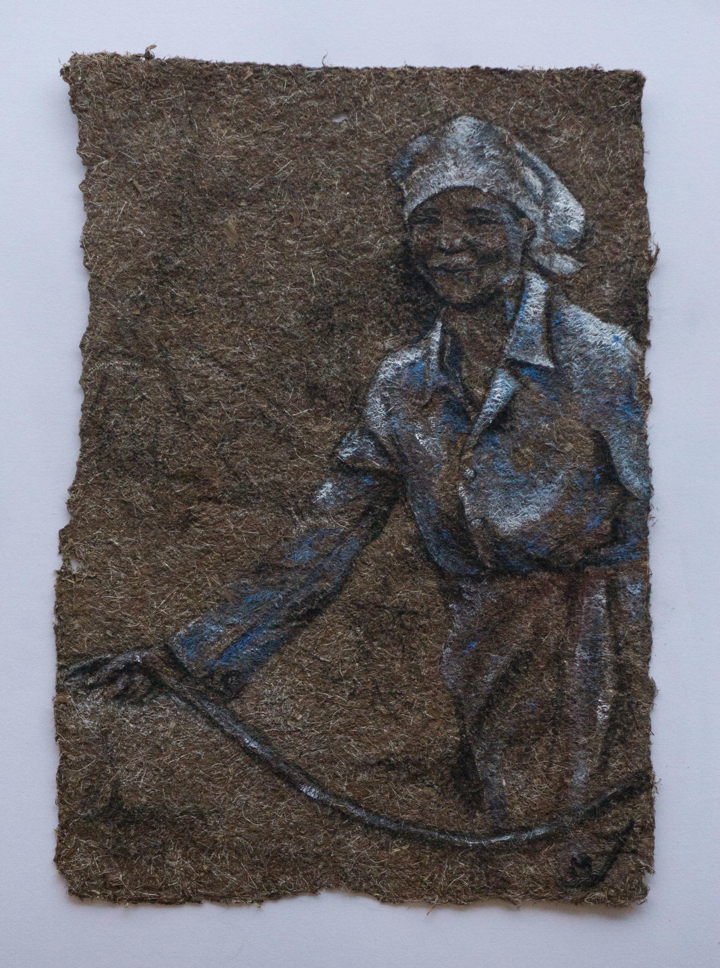 Woman In Cornflower Blouse