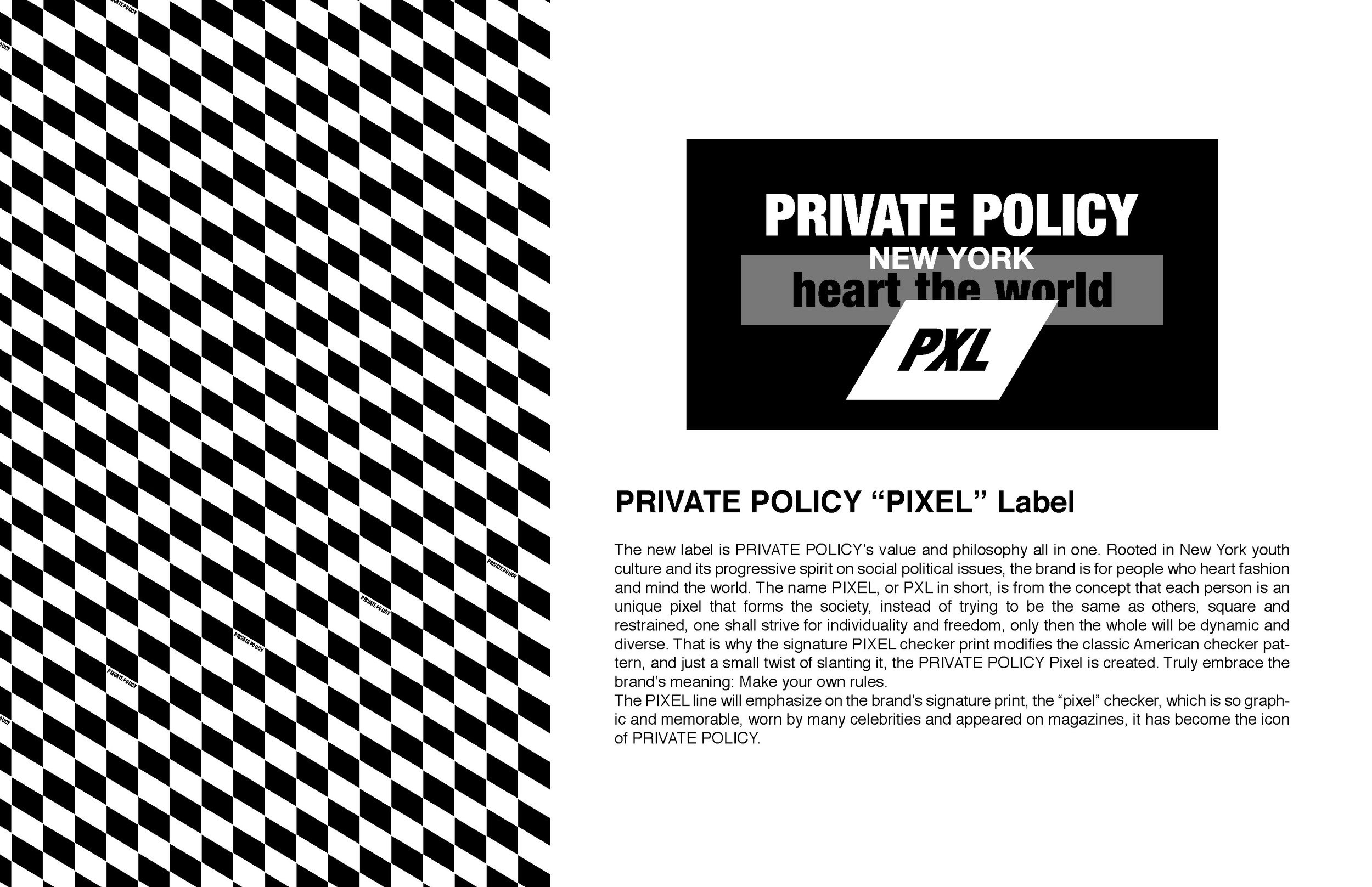 PRIVATE POLICY PXL Pixel Label