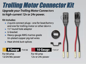 Track Trolling Motor Connector Kit — PoolandMarine.com on trolling motor remote control, trolling motor hardware, trolling motor plug, trolling motor lights, trolling motor speedometer, trolling motor controller, trolling motor generator, trolling motor shocks, trolling motor gauge, trolling motor manual, trolling motor circuit breaker, trolling motor strut, trolling motor bracket, trolling motor bumper, trolling motor spring, trolling motor battery, trolling motor sleeve, trolling motor filter, trolling motor cable, trolling motor seat,