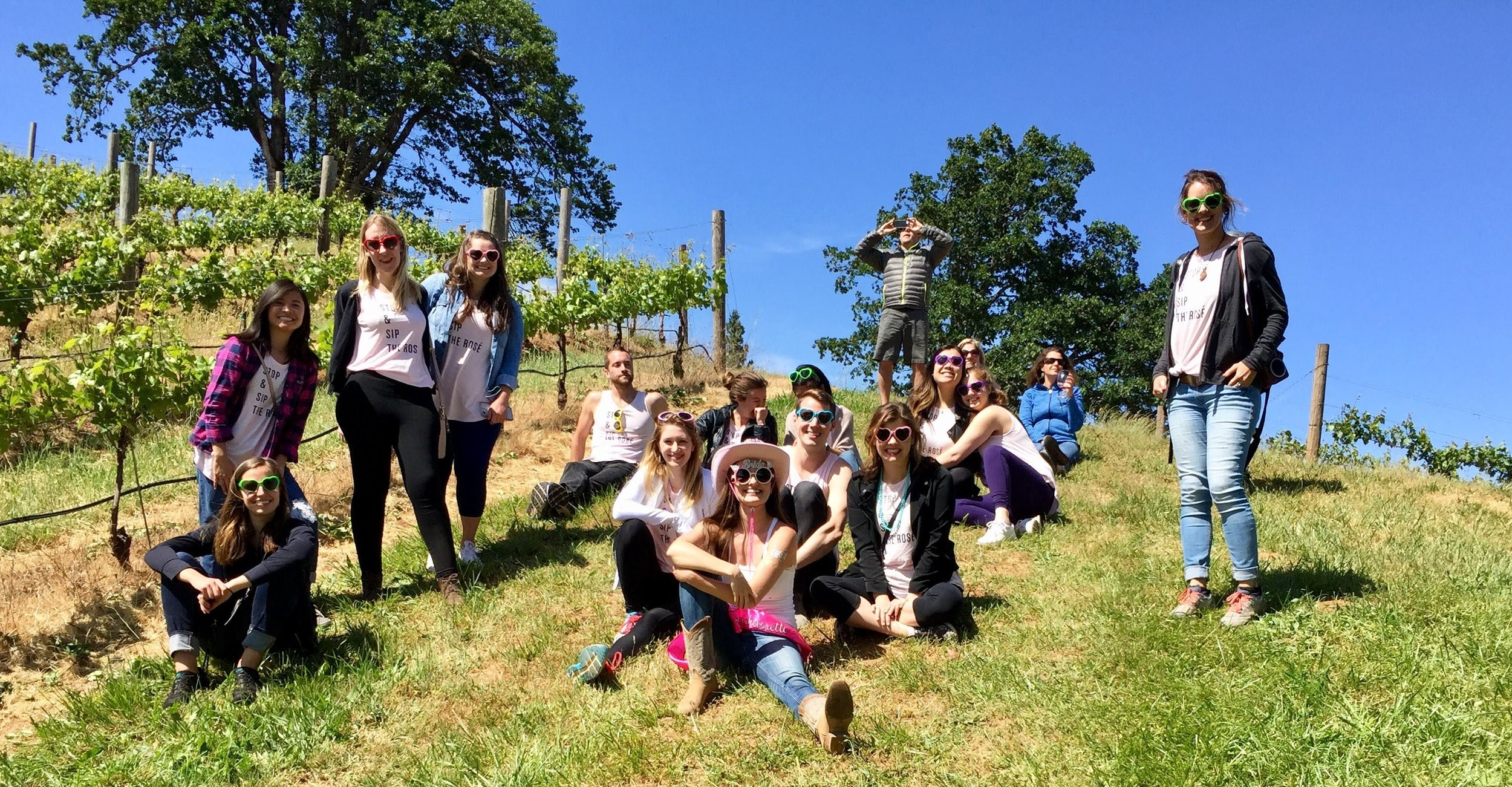 Friends and family spending the afternoon together at our Estate Vineyards